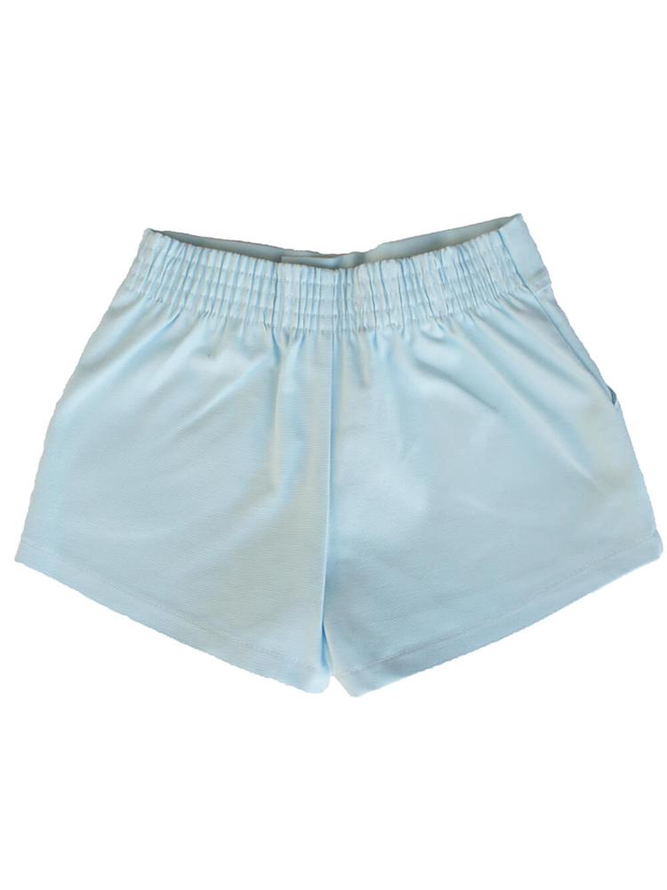 Shorts Sarja Feminino Azul Bebê