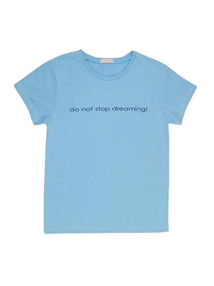T-Shirt Estampada Azul Feminino