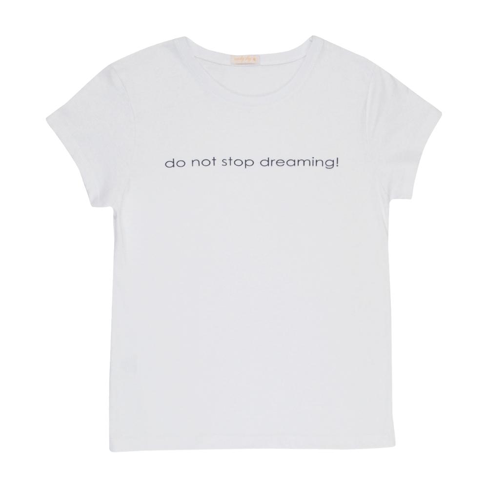 T-Shirt Estampada Branca Feminino