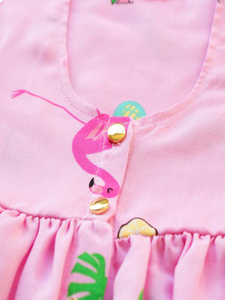 Vestido Curto Rosa Flamingo