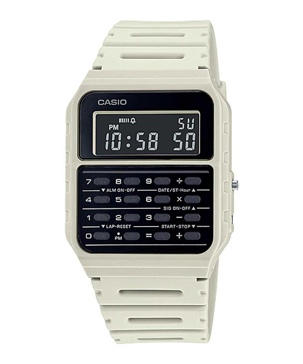 Relógio Casio Calculadora Vintage CA-53WF-8BDF Branco