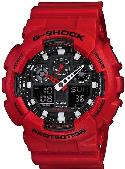 Relógio Casio G-Shock GA-100B-4ADR Vermelho Masculino