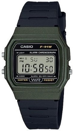 Relógio Casio Unissex Digital F-91WM-3ADF