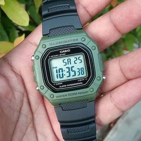 Relógio Casio Unissex Digital W-218H-3AVDF