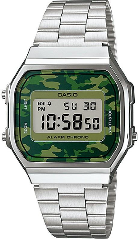 Relógio Casio Vintage A168WEC3DF Camuflado