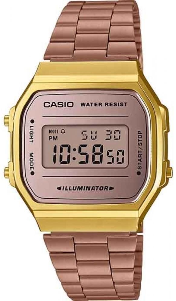 Relógio Casio Vintage A168WECM5DF Feminino Rose