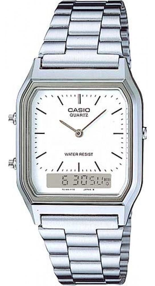 Relógio Casio Vintage AQ-230A-7DMQ Prata