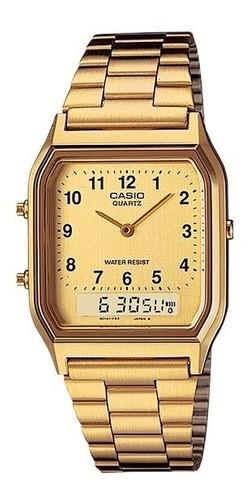Relógio Casio Vintage AQ-230GA-9BMQ Dourado