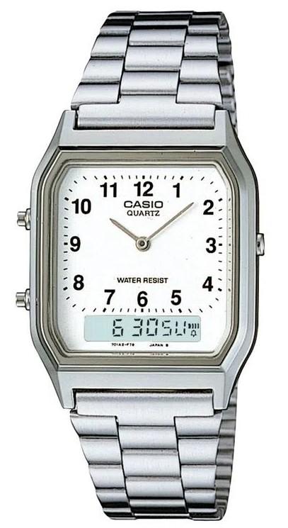 Relógio Casio Vintage AQ-230A-7BMQ Prata