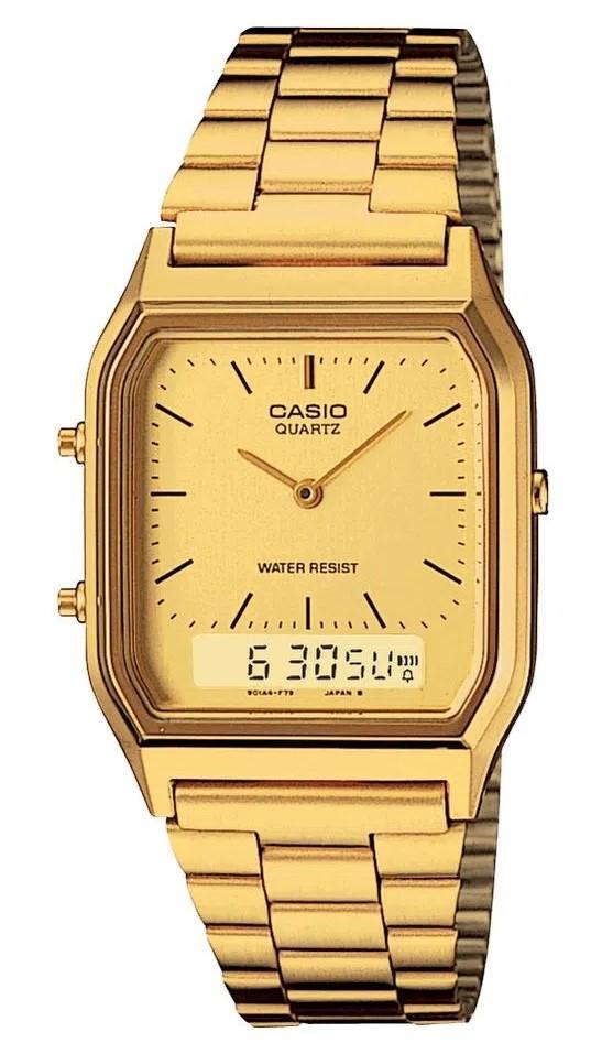 Relógio Casio Vintage AQ-230GA-9DMQ Dourado