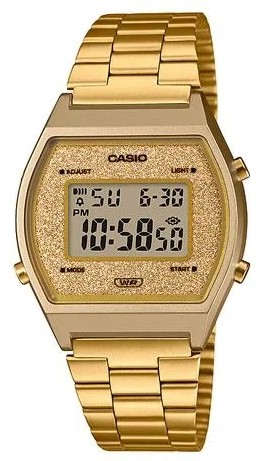 Relógio Casio Vintage Glitter B640WGG-9DF Dourado Feminino