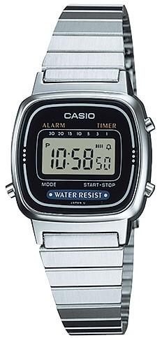Relógio Casio Vintage LA670WA-1DF Prata Feminino