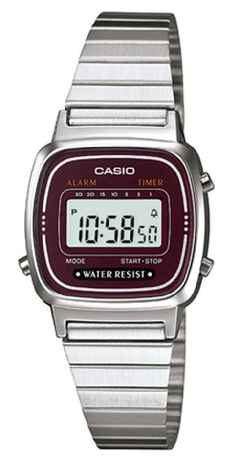 Relógio Casio Vintage LA670WA-4DF Prata Feminino