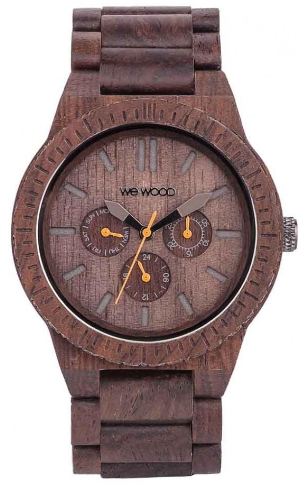 Relógio de Madeira Wewood Kappa Chocolate