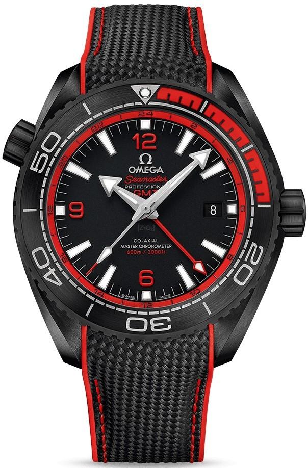 Relógio Omega Seamaster Planet Ocean Deep Black GMT