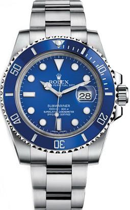 Relógio Rolex Submariner Azul