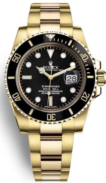 Relógio Rolex Submariner Gold Black