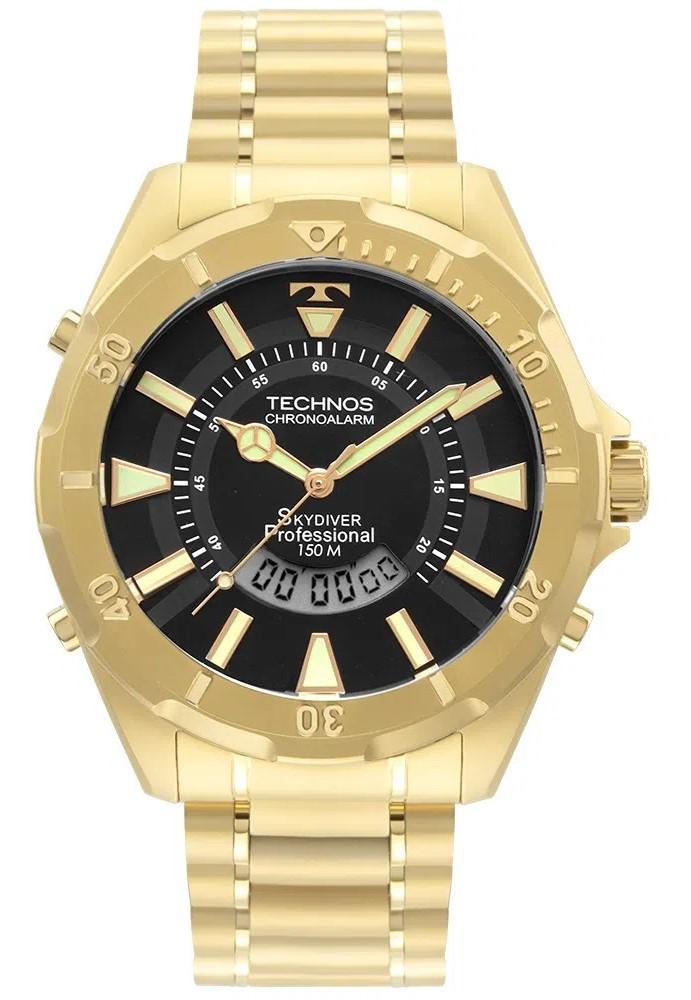 Relógio Technos Masculino Sport Dourado WT205FL/4P