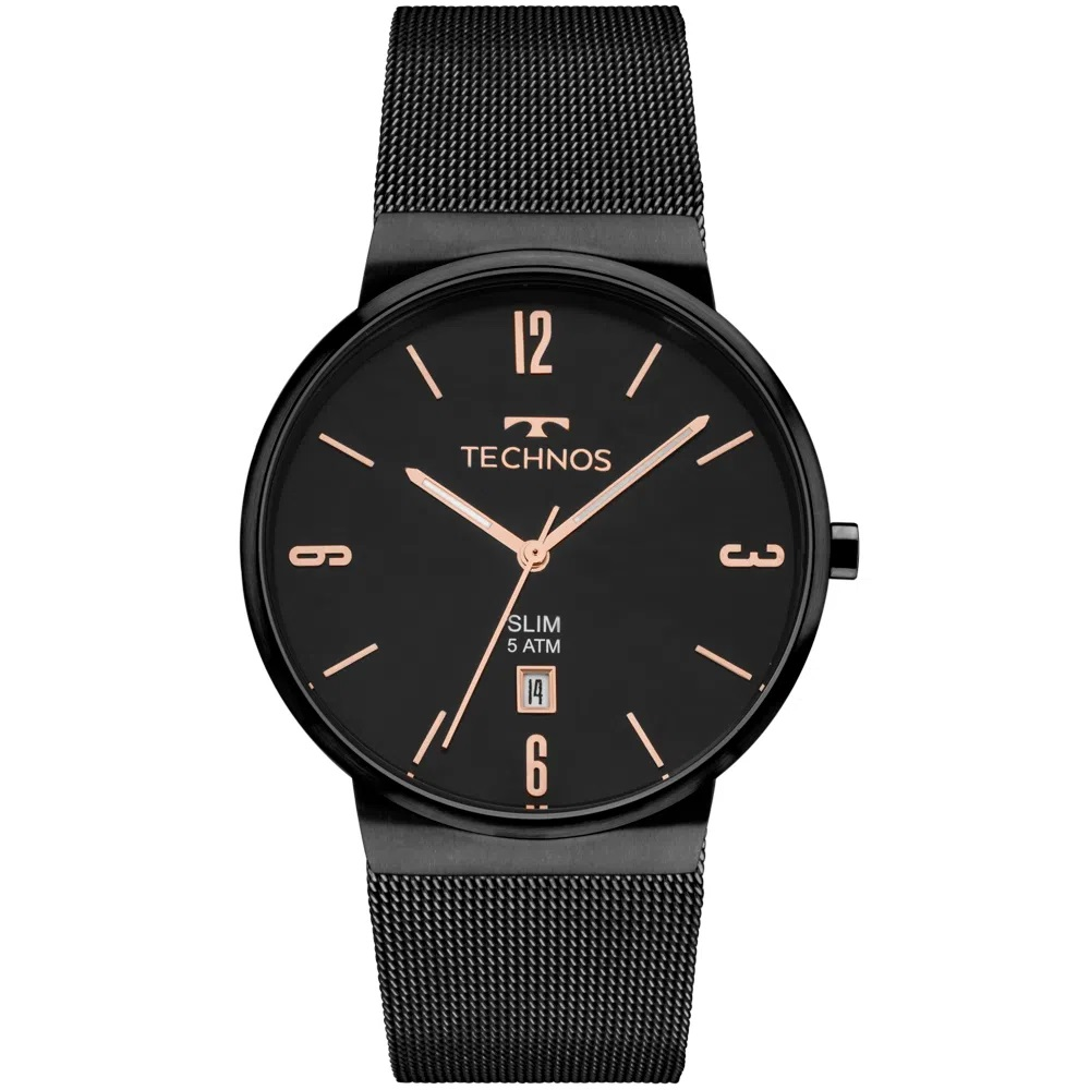 Relógio Technos Slim GM10YJ/4P Preto Unissex