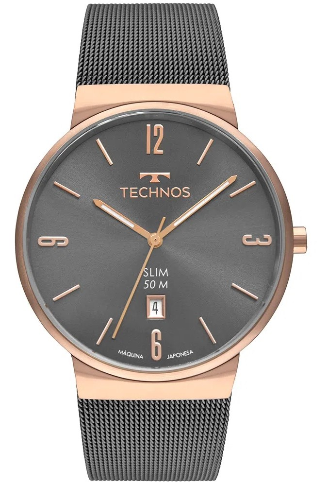 Relógio Technos Slim GM10YN/4P Rosê Masculino