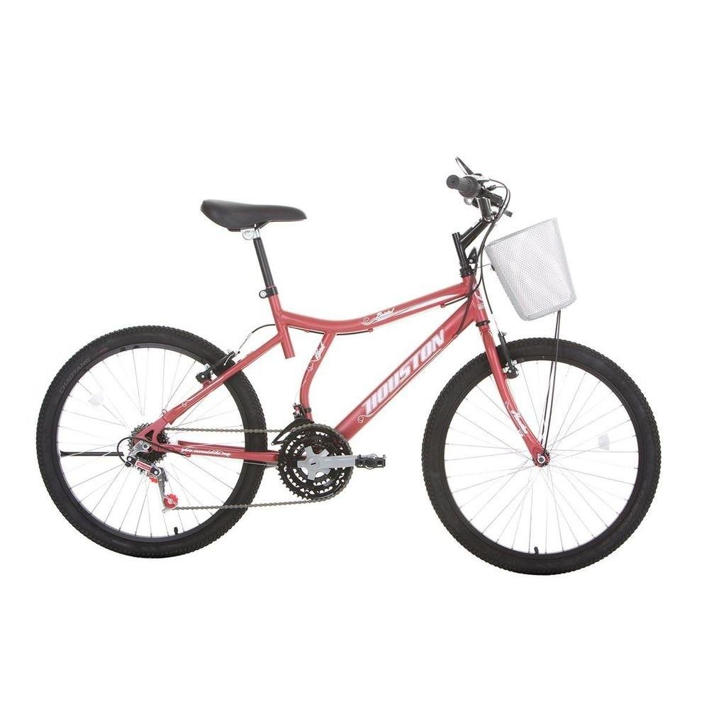 Bicicleta Aro 24 Bristol Peak Vermelha BR242Q - Houston