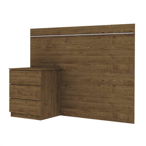 Cabeceira Box 0.90 Veronna c/criado - Imbuia Ristic
