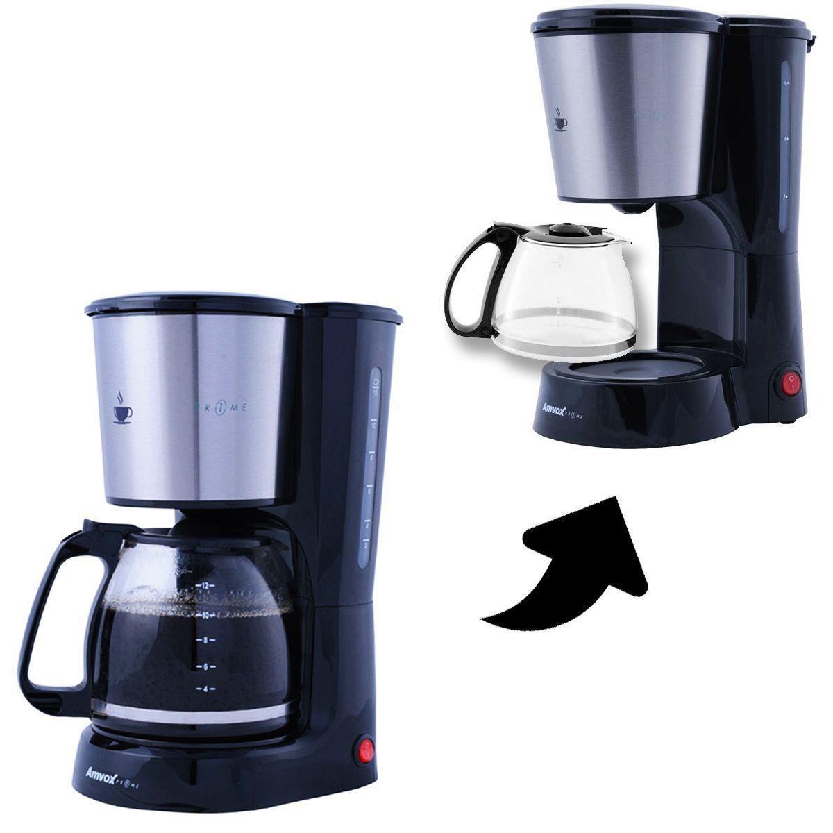 Cafeteira Elétrica AMVOX Inox ACF 557 800W