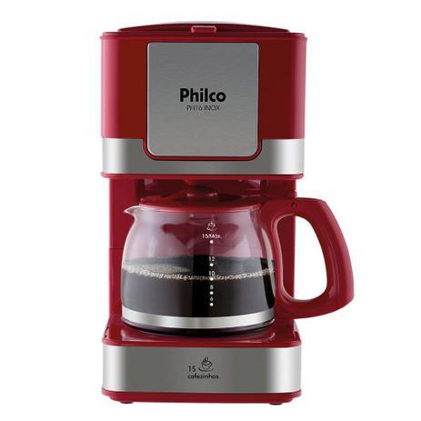 Cafeteira Elétrica Philco PH16 Inox Vermelho