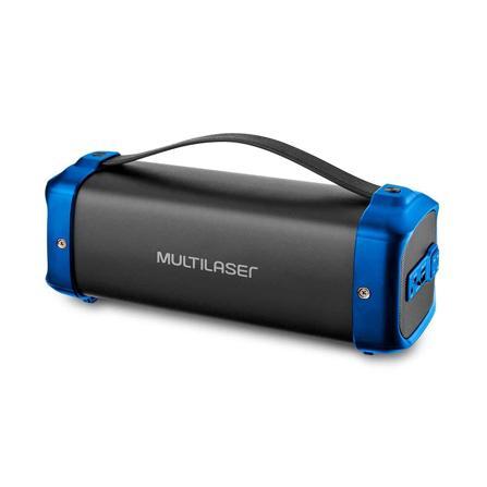 Caixa de Som Bazooka 70W Preto e Azul SP351 - Multilaser