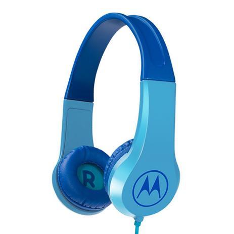 Fone de Ouvido Motorola Squads 200 Kids com fio Azul