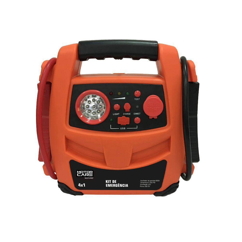 Kit de emergência 4 em 1 - Auxiliador de partidas 600R - AU621 - Multilaser