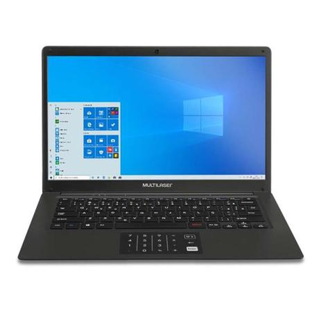 "Notebook Multilaser Legacy Book Intel Pentium Quad Core 4GB 64GB Windows10 14,1"" HD Preto - PC310"