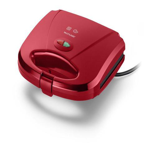 Sanduicheira e Minigrill Multilaser 127V 750W Vermelha - CE148