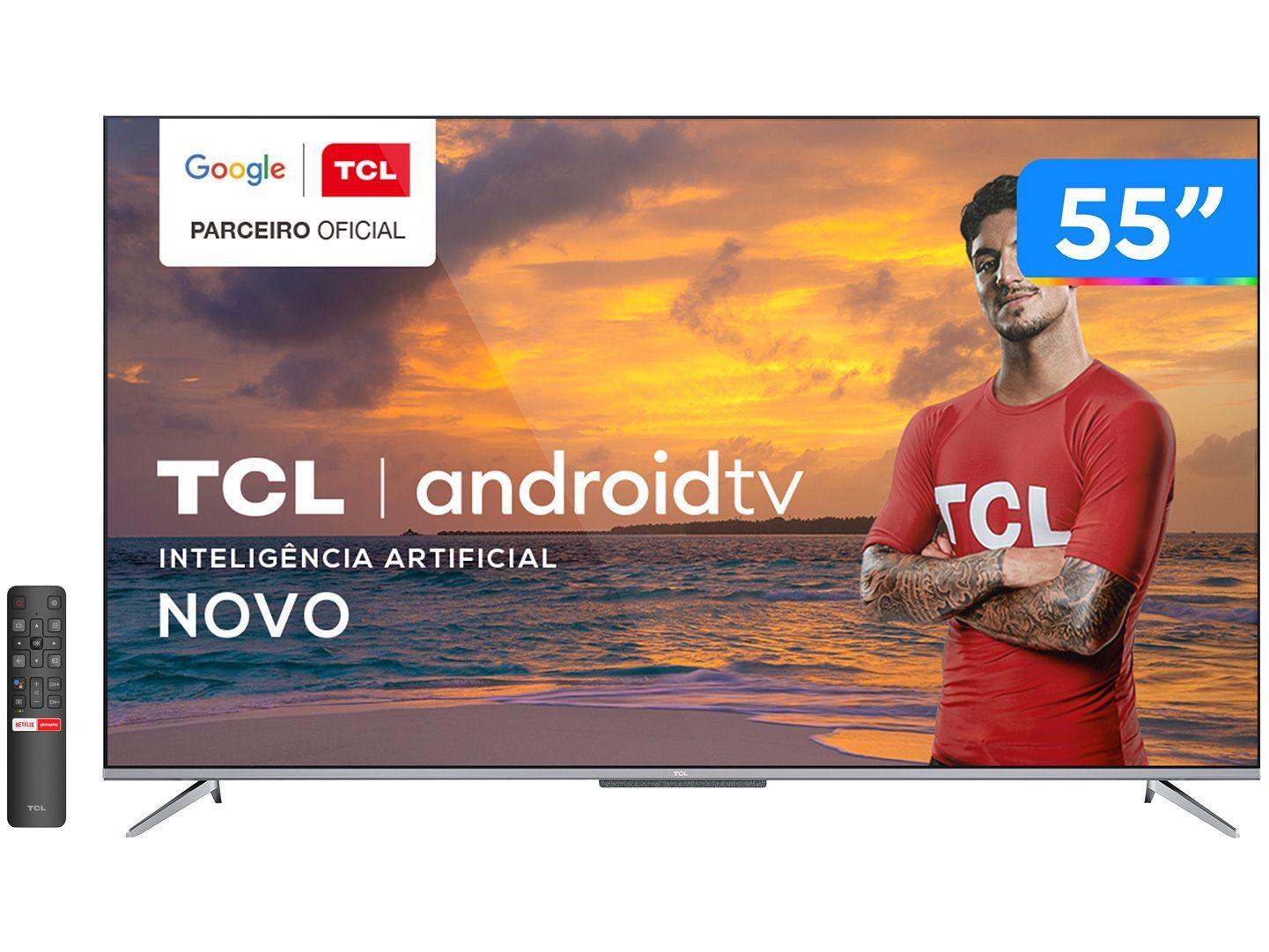 Smart TV 4K UHD LED 55 TCL 55P715 Android Wi-Fi - Bluetooth 3 HDMI 2 USB