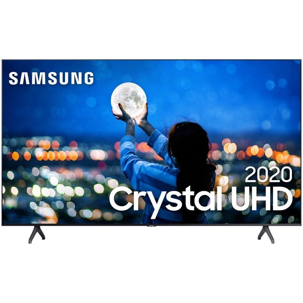Smart TV LED 58'' UHD 4K Samsung 58TU7000 Crystal UHD - Wi-Fi, HDR, Borda Ultrafina, Controle Remoto Único e Bluetooth