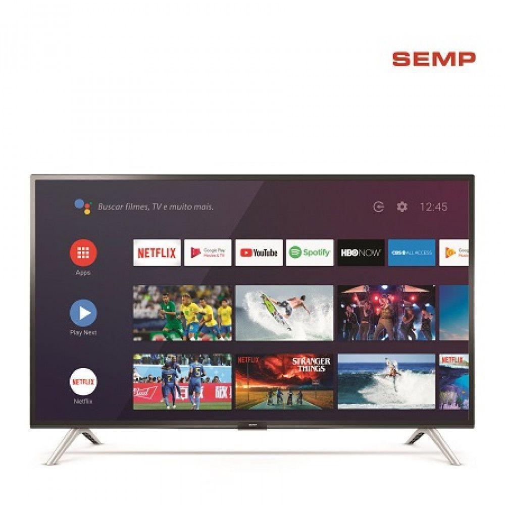 Smart Tv Semp 32 HD cAndroid TV, Comando de Voz - Semp Tcl