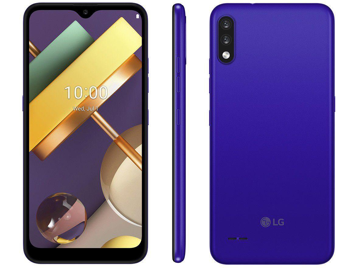 "Smartphone LG K22 32GB 4G Quad-Core 2GB RAM - Tela 6,2"" Câm. Dupla + Selfie 5MP Dual Chip Azul"