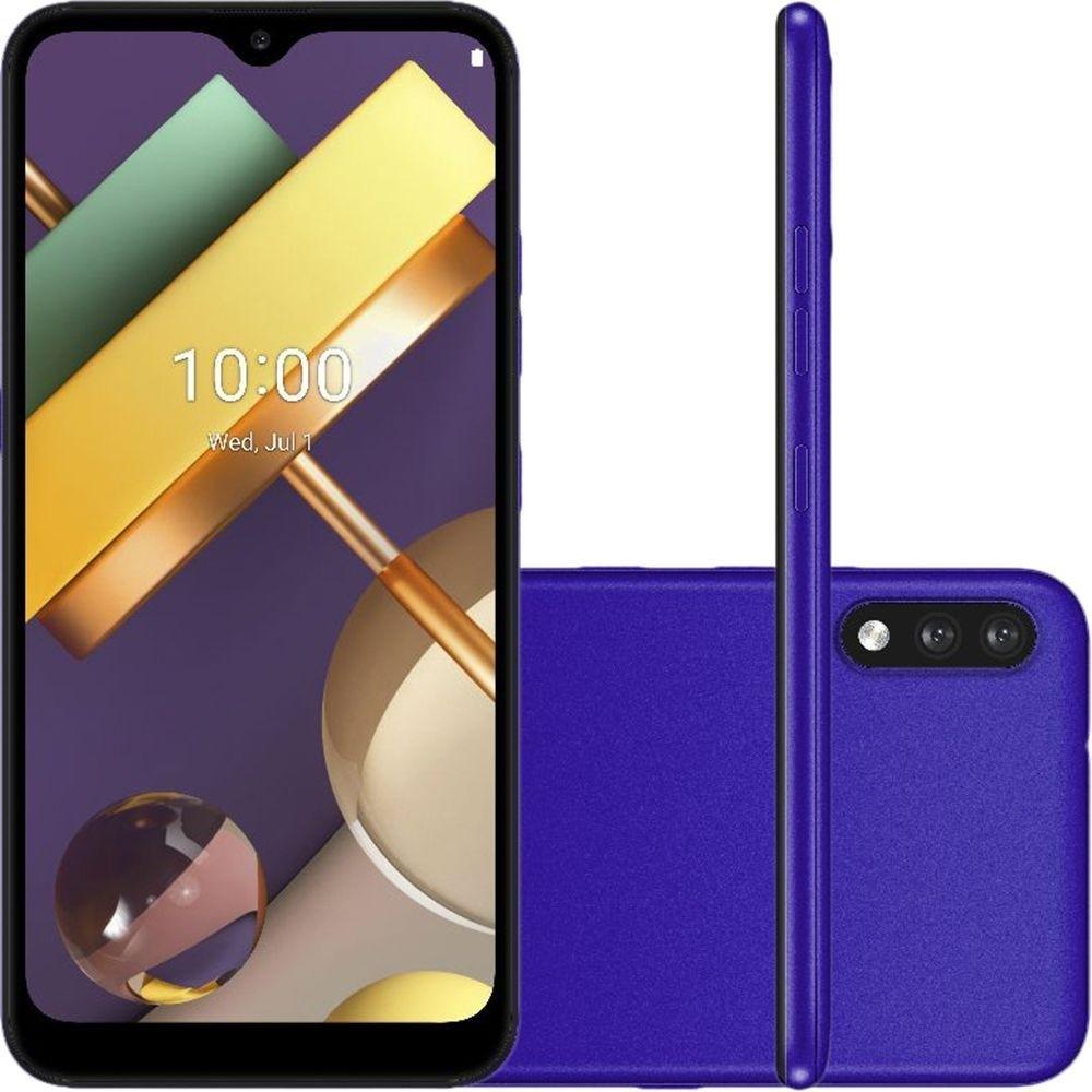 """Smartphone LG K22+ 64GB Dual Tela 6.2"""" 4G Câmera 13MP+2MP - Roxo"""