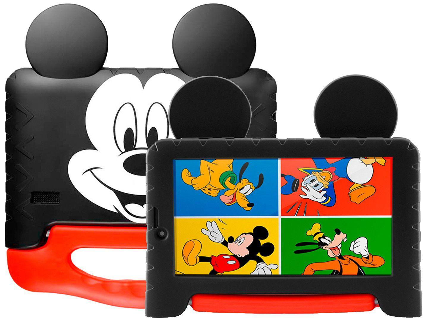 "Tablet Infantil Mickey Plus com Capa - 16GB 7"" Wi-Fi Android 8.1 Quad Core Câm. 2MP NB314 Multilaser"