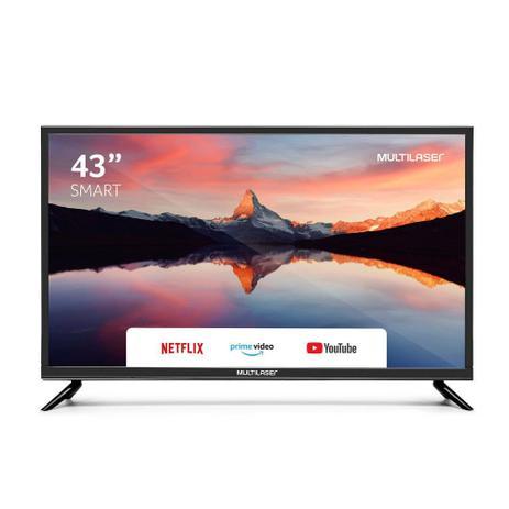 Tela 43 Pol Full HD Multilaser Função Smart + Conversor Digital TL012
