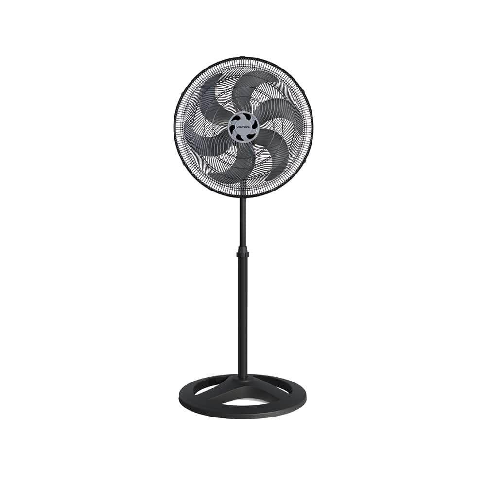 Ventilador de Coluna Preto - 50 cm - Ventisol 6 Pás 127V Turbo