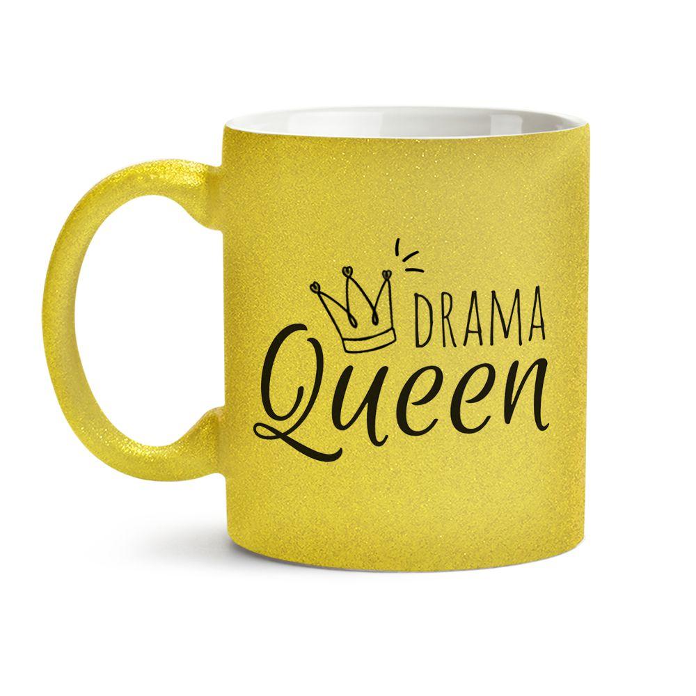 Caneca Drama Queen Dourada