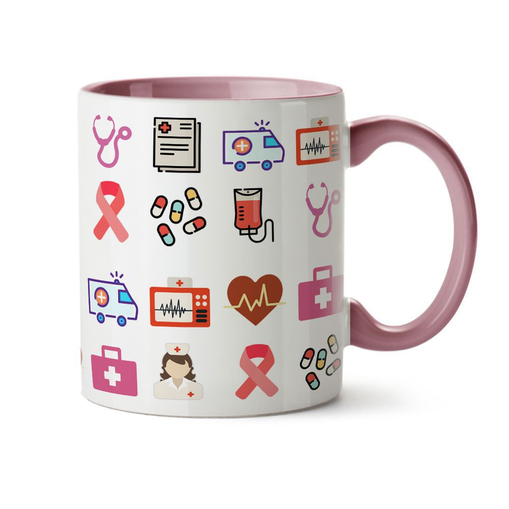 Caneca Enfermagem Feminina C/ Nome