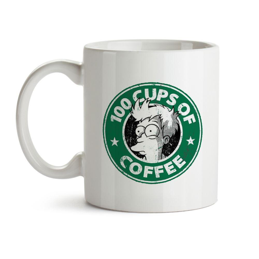 Caneca Futurama Fry 100 Cups Of Coffee
