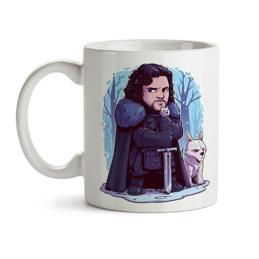 Caneca Game Of Thrones - Jon Snow  Chibi
