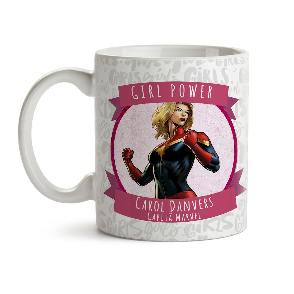 Caneca Girl Power Capitã Marvel