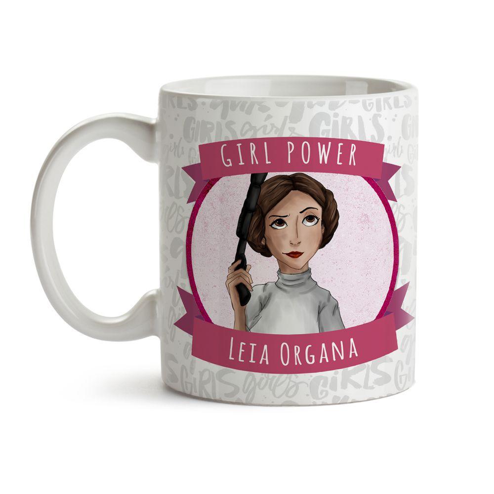 Caneca Girl Power Leia