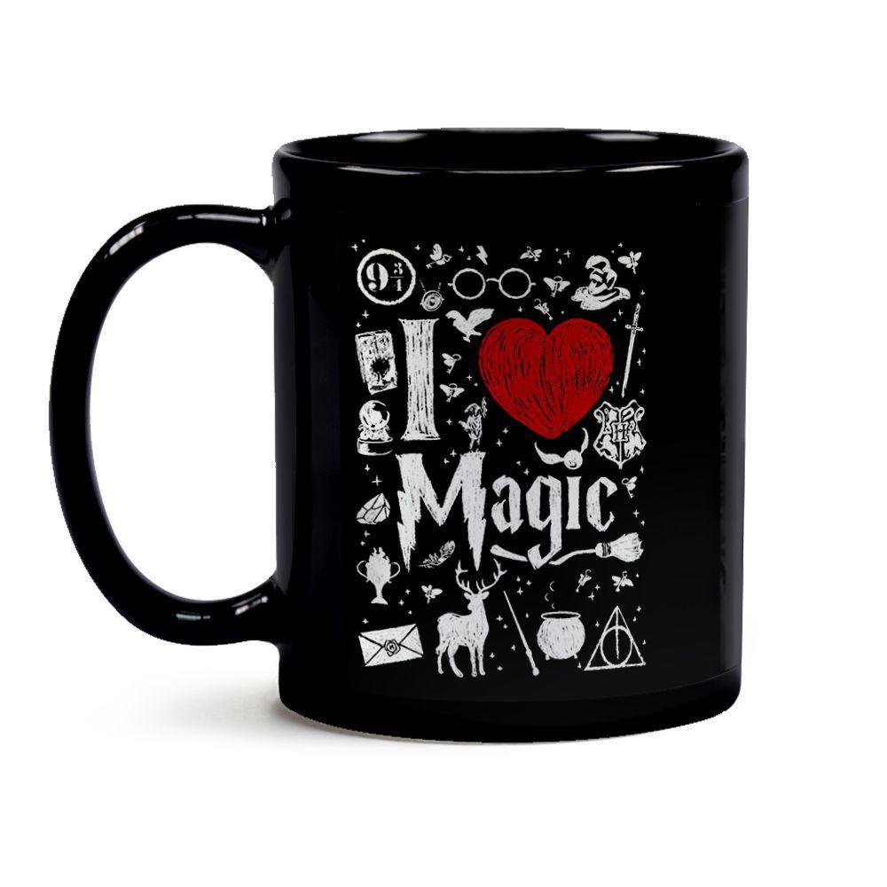 Caneca Harry Potter Eu Amo Magia