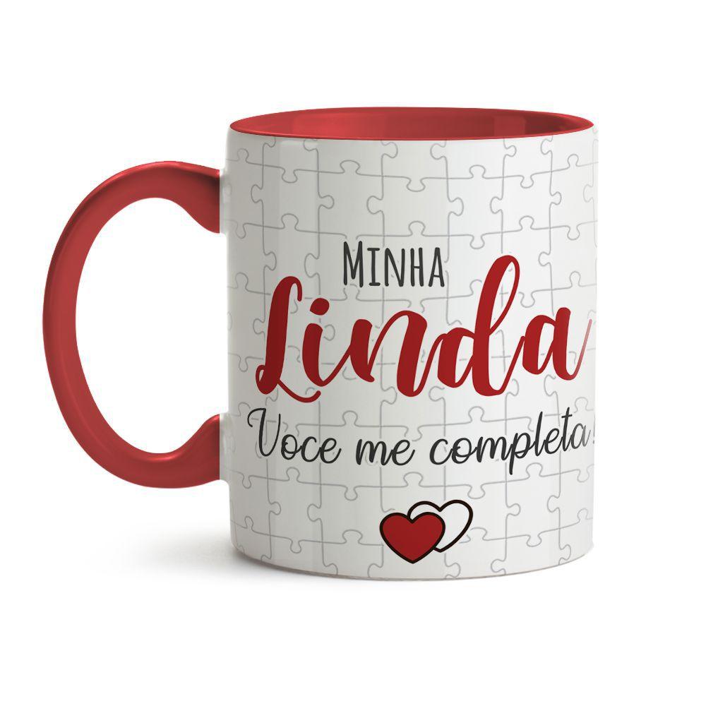 Caneca Minha Linda Você Me Completa