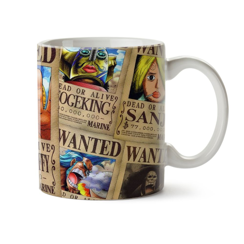 Caneca One Piece Wanted